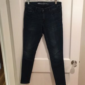 Old Navy - The Rockstar mid rise jeans.